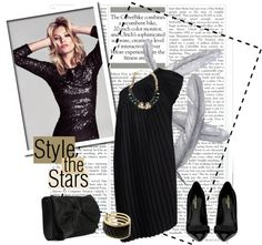 """Stylish in a black dress"" by sophiek82 ❤ liked on Polyvore"