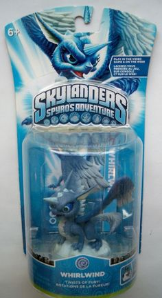 Skylanders Spyro's Adventure Whirlwind Series 1 Dragon Fantasy Action Figure Toy