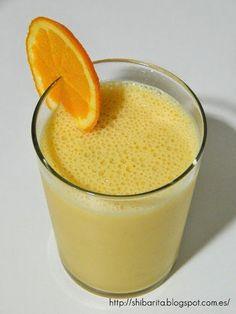 Smoothie de naranja y plátano