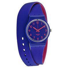 Swatch Biko Bloo Blue and Pink Ladies Watch LS115 | eBay