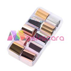 Metallics Themed Transfer Foil Case Each foil design is approximately 1 meter in length. For optimal results - use in conjunction with Maskscara's Gel-iT Foil Gel! Transfer Foil, Nail Art Designs, Eyeshadow, Nails, Metal, Finger Nails, Eye Shadow, Ongles, Eye Shadows