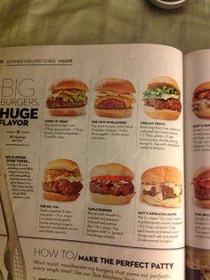 Guy Fieri's hamburger recipes