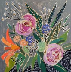 Stunning florals by Lulie Wallace. I'm really drawn to her color palettes.