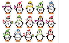 Az ALÁBBI oldalon találtam egy aranyos kis feladatsort, pingvinekkel. ( Kevés angol tudásommal azt mondanám, hogy az igék gyakorlásához van... Bulletin Board Letters, Birthday Charts, Dysgraphia, Kids Learning, Grammar, Literature, Kindergarten, Homeschool, Language