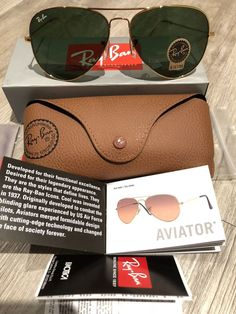 deec6ee131 Ray Ban Sunglasses Aviator RB3025   62mm Gold Frame   Green Lens  fashion   clothing