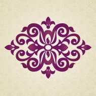 Illustration of Vector set with classical ornament in Victorian style. Ornate element for design. Frames and vignettes for your text. Pattern for wedding invitations, greeting cards. vector art, clipart and stock vectors. Stencil Patterns, Stencil Designs, Paint Designs, Embroidery Patterns, Motif Arabesque, Stencils, Islamic Patterns, Silhouette Cameo, Free Vector Art