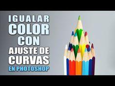 Igualar color entre dos objetos con ajuste de Curvas en Photoshop #6 - YouTube