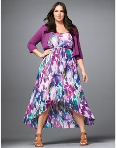 Tulip hem dress, or maybe this one? But it might be too bright and colorful