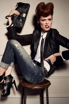 Coco Rocha - Diesel Ad Campaign ☆ Love ☆ ❤♔Life, likes and style of Creole-Belle ♥