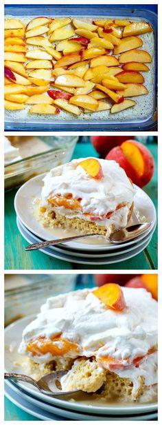 Peach Bourbon Tres Leches Cake