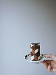 kuroiwa - tiled chocolate mousse