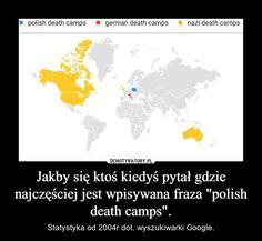 """Jakby się ktoś kiedyś pytał gdzie najczęściej jest wpisywana fraza """"polish death camps""""."""