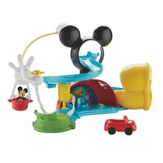 Disney's Mickey Mouse Clubhouse Zip Slide and Zoom Clubhouse by Fisher-Price, Multicolor