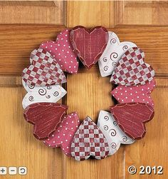 Valentine's Day...Wooden Heart Wreath