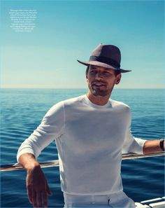 Picture Perfect: Robertas Aukstuolis Takes in a Cool Summer with Boat International - The Fashionisto Alex Thompson, Tyson Beckford, The Fashionisto, David Gandy, Photo Poses, Hugo Boss, Panama Hat, Men Casual, Boat