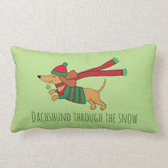 Dachshund Shirt, Dachshund Gifts, Funny Dachshund, Pillow Fight, Custom Pillows, Keep It Cleaner, Bed Pillows, 21st, Snow