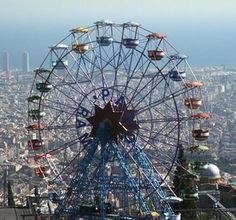 Tibidabo Amusement Park - on the top of Barcelona's hill, Spain
