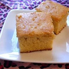 Sour Cream Cornbread--this is the WINNER. Best cornbread I've made. Love it. (I halved it in a square pan. Cooked about 28 min.)