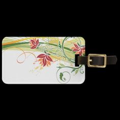 Travel in style with Floral luggage tags from Zazzle! Make your tags today! Custom Luggage Tags, Standard Business Card Size, Leather Luggage, Floral Fashion, Prints, Color, Personalised Luggage Tags, Personalized Luggage Tags, Colour