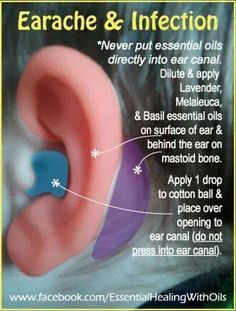 How to treat an ear infection with doTERRA essential oils    www.onedoterracommunity.com   https://www.facebook.com/#!/OneDoterraCommunity