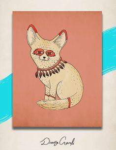 Fennex Fox Illustration - Diana Garoli Fanpage: https://www.facebook.com/pages/Diana-Garoli/1491970501049601