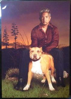 @Cesar Millan: Warm thanks to Berthie Nadorp for this gorgeous painting of Daddy and me. I love it. #FanArtFriday #HeyCesar