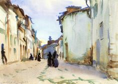 Santiago di Compostela (Spain) watercolor by John Singer Sargent 1903