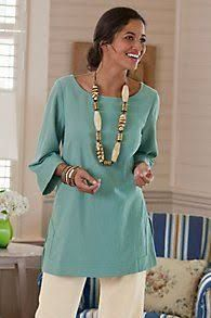 Great Gauze Tunic I - Gauze Tunic Top, Gauze Tunic Shirt Traje Casual, Casual Wear, Casual Outfits, Tunic Shirt, Tunic Tops, Facon, Fashion Over 50, Clothes For Women, Soft Surroundings