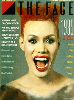 Neville Brody Grace Jones The Face magazine The Face Magazine, Magazine Front Cover, Peter Saville, Punk, Neville Brody, Terry Jones, Magazine Advert, Grace Jones, Print Layout