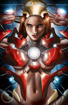 Pepper Potts as Rescue by Jon Hughes
