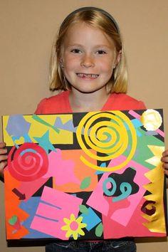 Klynn's Art Spot: Matisse Cut Paper Collage: