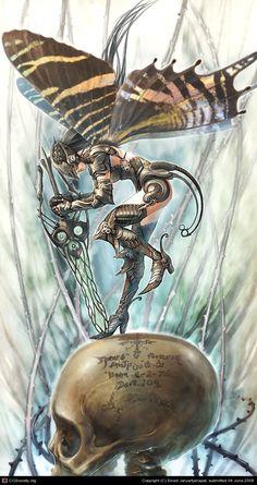 The curse of black fairy by Sinad Jaruartjanapat | 2D | CGSociety