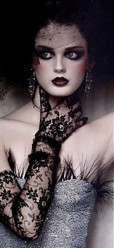 a lot of ideas going on here!..love the lace gloves