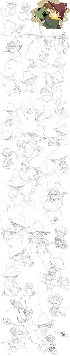 Jox and Snufkin sketches by ~Tamasaburo89 on deviantART
