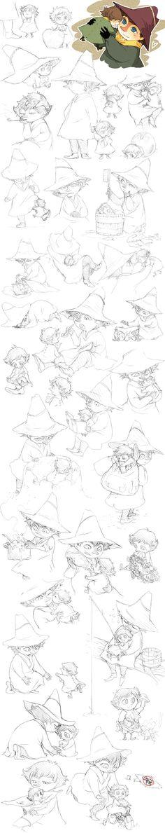 Jox and Snufkin sketches by ~Tamasaburo89 on deviantART