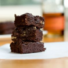 Bourbon Pecan Brownies - a gluten-free, dairy-free brownie mix hack