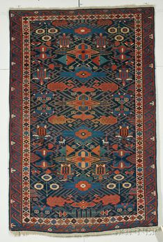 Kuba Rug, Northeast Caucasus, last quarter 19th century, 6 ft. 4 in. x 4 ft. | Skinner Auctioneers