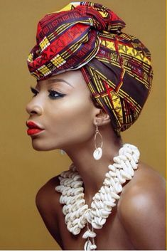 Gélé attaché foulard headwrap turban aso oké
