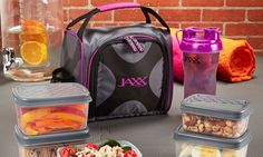 Jaxx FitPak Meal Prep Set and Shaker Cup (10-Piece): Jaxx FitPak Meal Prep Set and Shaker Cup (10-Piece)