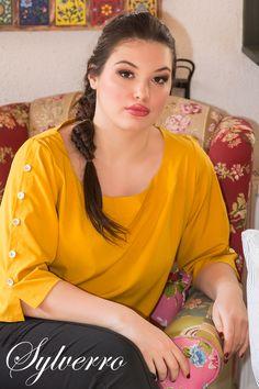 Plus size fashion, plus size dresses, XXL clothing Sylverro online shopping Yellow Dress With Sleeves, Yellow Plus Size Dresses, Trendy Plus Size Dresses, Plus Size Womens Clothing, Plus Size Outfits, Dresses With Sleeves, Clothes For Women, Curvy Fashion, Plus Size Fashion