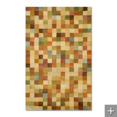 Mom....what about this one....Petra Squares Rug (Grandin Road)