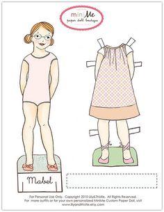 Mami, ¿Te ayudo?: Más muñecas recortables
