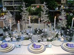 A beautiful table decorated for Christmas