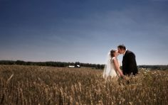 Bride and groom in field Real Weddings, Groom, Photographs, Bride, Couple Photos, Couples, Image, Bridal, Grooms