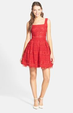Soprano Sequin Lace Skater Dress available at #Nordstrom