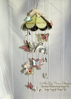 Little Big Town Designs: Paisley Petals Baby Mobile this would be great in fabric Crafts For Kids, Arts And Crafts, Paper Crafts, Diy Crafts, Butterfly Mobile, Butterfly Crafts, Paper Mobile, Home And Deco, Handmade Decorations