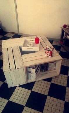 Table basse fabriquée par Gelik Lopez B