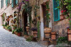 spanish village Valldemossa - Google Search spain Majorca  street in Valldemossa