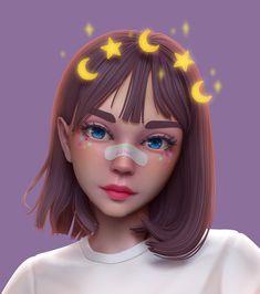 Cute Girl Wallpaper, Cute Disney Wallpaper, Cute Cartoon Wallpapers, Cute Art Styles, Cartoon Art Styles, Anime Art Girl, Anime Girls, Image Princesse Disney, Dibujos Tumblr A Color