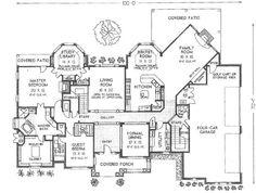 Main Level // Master closet, safe room, four car garage!!